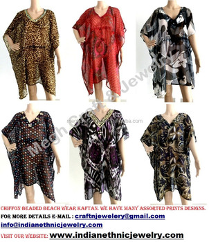 57a7e6d9824d75 Chiffon beach wear kaftan tops - Chiffon poncho-Chiffon beaded kaftan-Boho  hippi kaftan