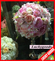 new arrival 12inch artificial silk centerpiece flower arrangements for sale
