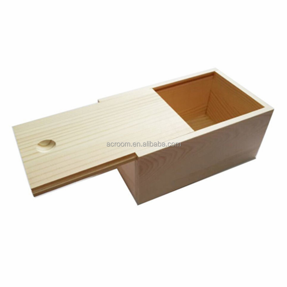 Wholesale art wood box craft fine storage woodedn boxes with slide lid