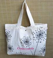 2012 Beautiful Printing Cotton Canvas Tote Bag