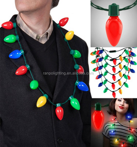 Holiday Lighting Colorful Led Christmas Light Necklace Bulb Lamps