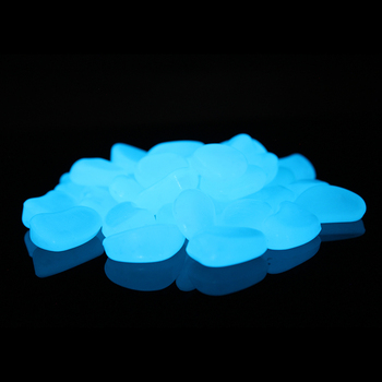 sky blue glow in the dark garden pebbles for diy decorations - Glow In The Dark Garden Pebbles