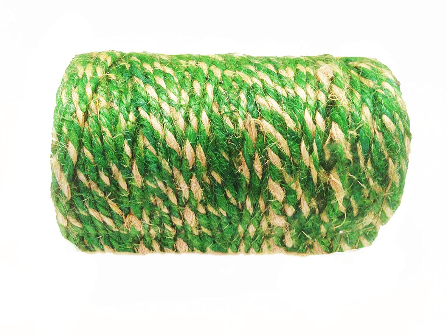 AAYU Jute Twine 3ply 200 feet | Green and Natural Twisted Yarn | Garden Jute Rope for Planters | Perfect Match for Vine