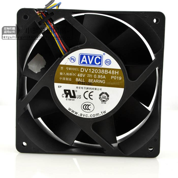 New original 48V 0 95A DV12038B48H 12CM 12038 Industrial inverter cooling  fan
