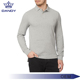 China clothing factory OEM 100% Polyester Men's polo shirts Custom Sport Long Sleeve Polo Shirt
