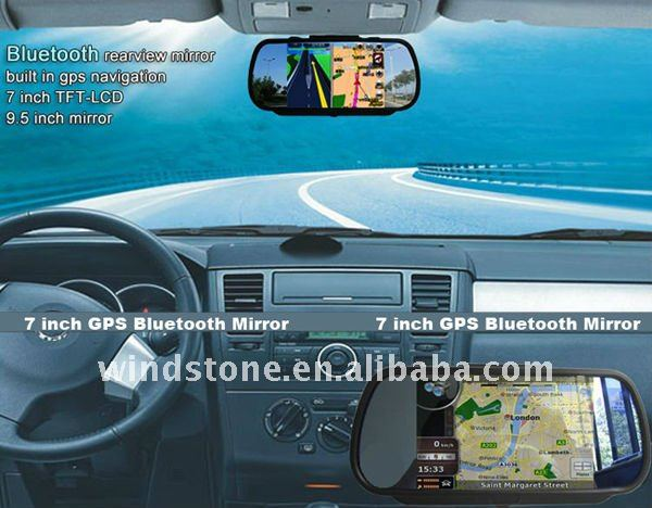 Mirror Navigation Car GPS 7 inch Bluetooth Perfection Car