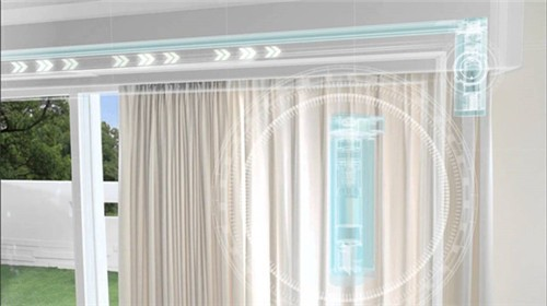 Curtain Rods And Rails, Electric Curtain Track Curtain Timer