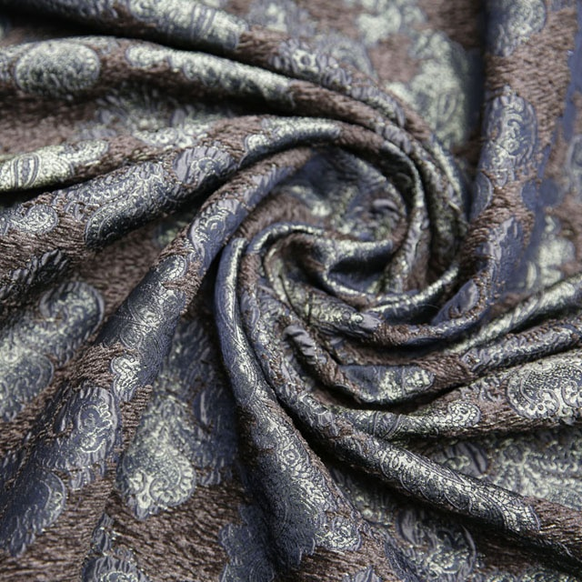 Luxurious brocade chenille jacquard fabric for garment