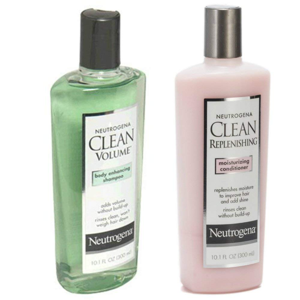 Get Quotations Neutrogena Clean Volume Shampoo 10 1 Oz And Repleneshing Conditioner