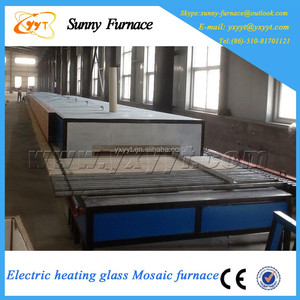 Gas heating glass mosaic electric oven