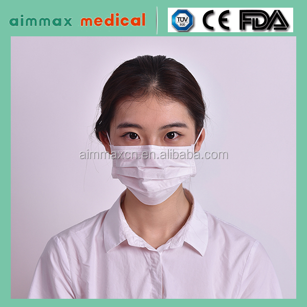 Disposable 1-Ply 2-Ply 3-Ply 4-Ply Paper Face Mask with Elastic Ear-Loops or Elastic Head-Loops