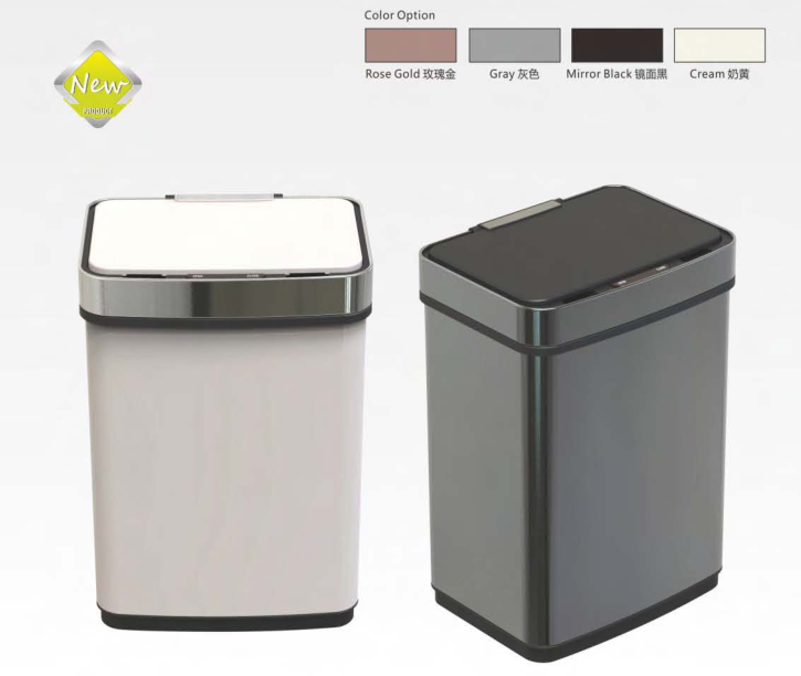 high capacity sensor dustbin