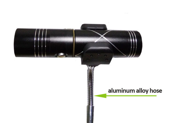 LED flashlight fishing lamp u clamp with hose for tripod stand