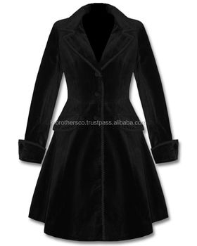 world-wide renown attractivedesigns new release Ladeis Black Velvet Gothic Frock Coat - Buy Ladies Fancy Coat,Ladies Gothic  Coat,Red Velvet Coat Product on Alibaba.com