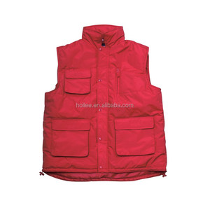 Red custom outdoor quilted vest