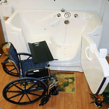 wheelchair accessible bathtub for people with mobility problemt3052