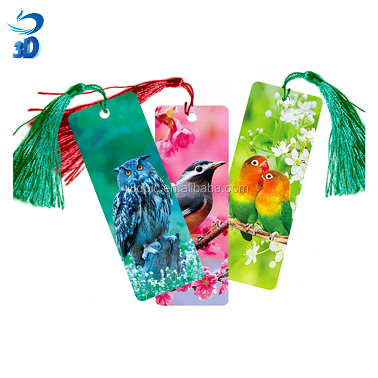 3D Lenticular Cartoon Deep Flip Effect PET Bookmark for Stationery 3D Lenticular ruler