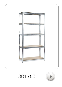 New combination Curled boltless steel shelving