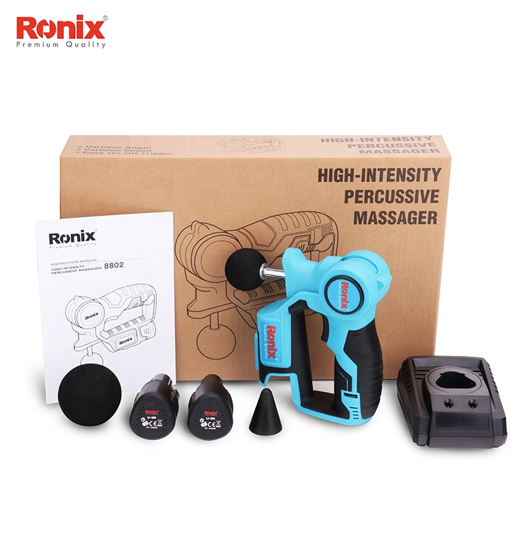 Christmas Gifts Ronix Cordless Body Massager Gun 1.2V Lithium Model 8802 Surprise Gifts Relaxed