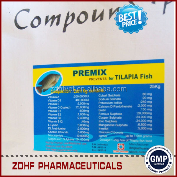 Natural Vitamins Fish Feed Premix For Tilapia Fish Farming In ...