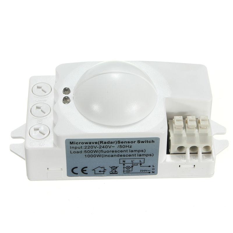 360 Degree 500w Microwave Smart Motion Sensor Light Radar Switch ...