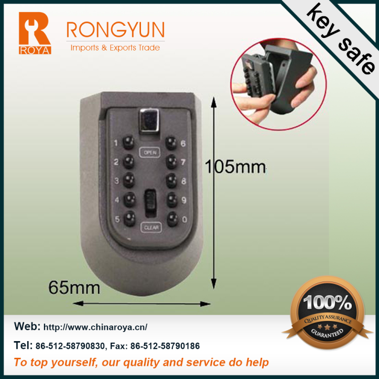 105*65*55(mm) Hot room key hotel safes 16.5/18.5kg two key safe box Zinc alloy key safe