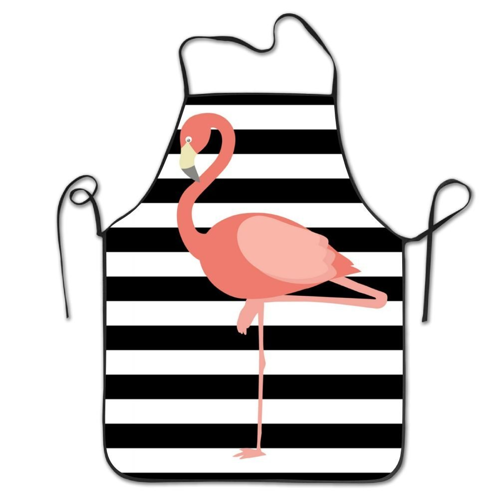 RZ GMSC Novelty Flamingo Printable Unisex Kitchen Chef Apron - Chef Apron For Cooking,Baking,Crafting,Gardening And BBQ