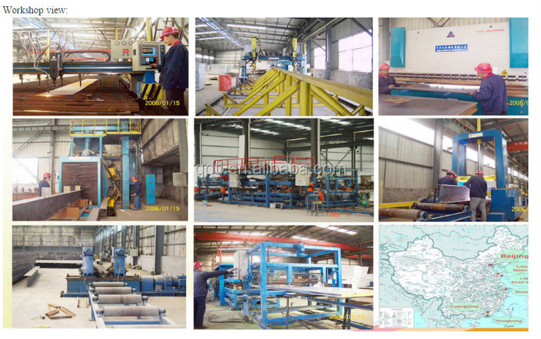 Low Cost Light prefabricated steel frame structure warehouse