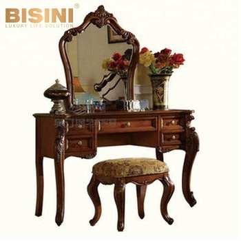 Bisini American Style Antique Solid Wooden Furniture Dressing Table With  Mirror,Bedroom Dresser(bf07-70076) - Buy Antique Dressing Table With ...