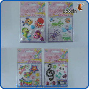 2013 factory shenzhen cheap puffy stickers (free samples)