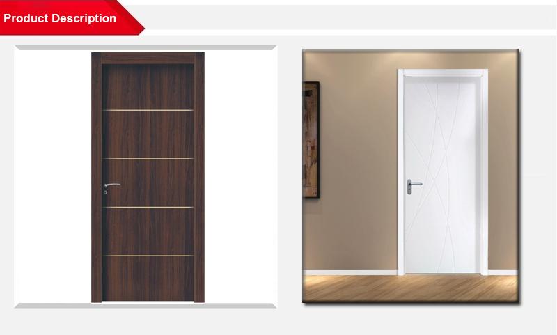 2017 de alta calidad wpc puerta s lida para habitaciones for Puertas de madera para habitaciones