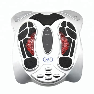 Electric roller air pressure heating multifunction EMS vibrating foot massager with adapter