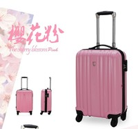 Cute pink 100% polycarbonate PC fancy luggage for girl
