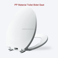 Bathroom plastic poly resin toilet seat with soft close hinges