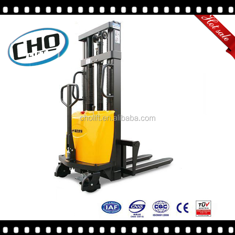 4400lbs capacity Semi-Electric Powered Pallet Stacker Popular for EU U.S and Asia market