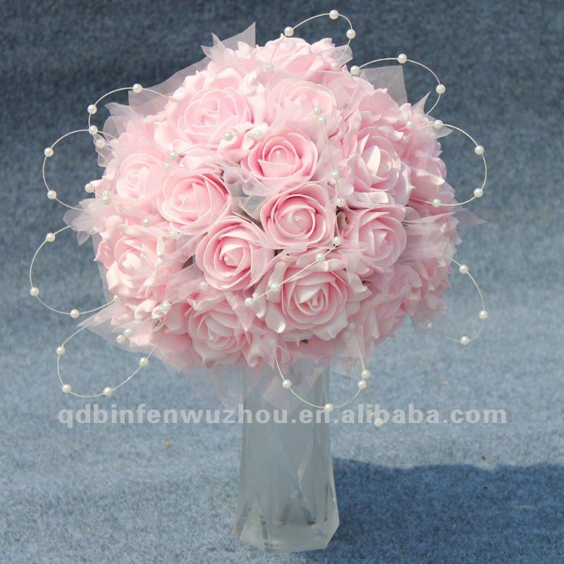 Artificial Foam Mini Roses Flowers Bunches