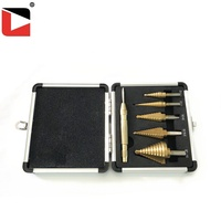 High precision multi hole step drill bit set with center punch