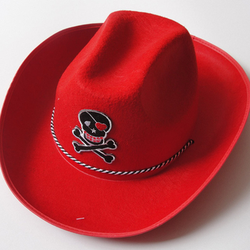 d79df69f511 Cowboy Hat Red Adult Unisex Cowgirl Costume Role Play Hats - Buy ...