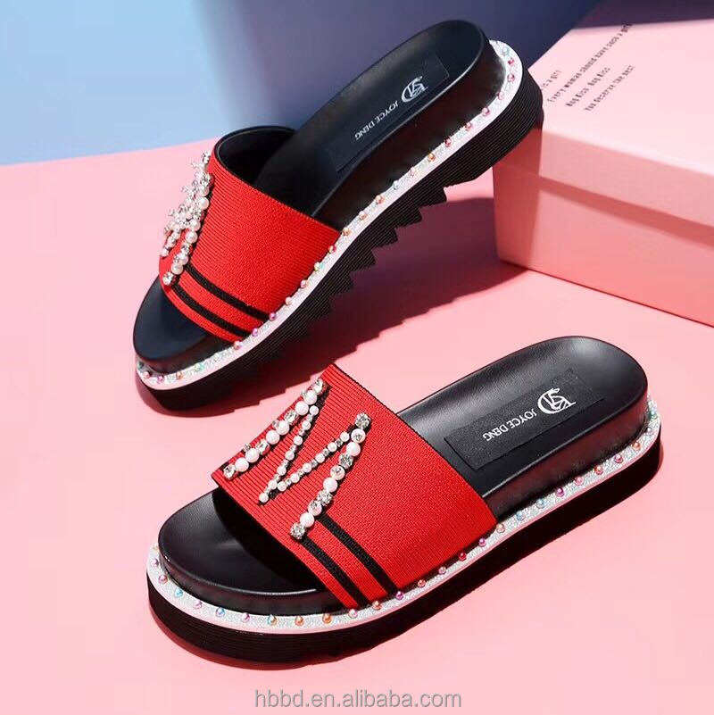 letter M cotton and wholesale shoes rhinestone cloth with beach weaving handmade upper qxwpv6wOn