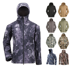 23 Colors Camo Hoodie Outdoor Uniform Army Soft Shell Jacket Military Hunting Tactical Jacket