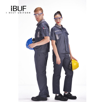 Engineering short sleeve Workwear top and pants uniform antistatic dust free function