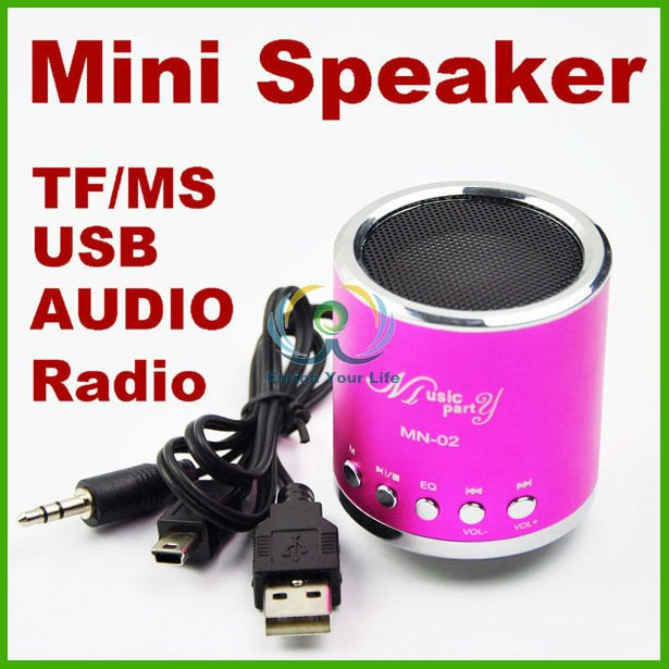 Mini Speaker TF card/MP3/USB Player Radio Stereo Heavy Bass Speakers LED audio
