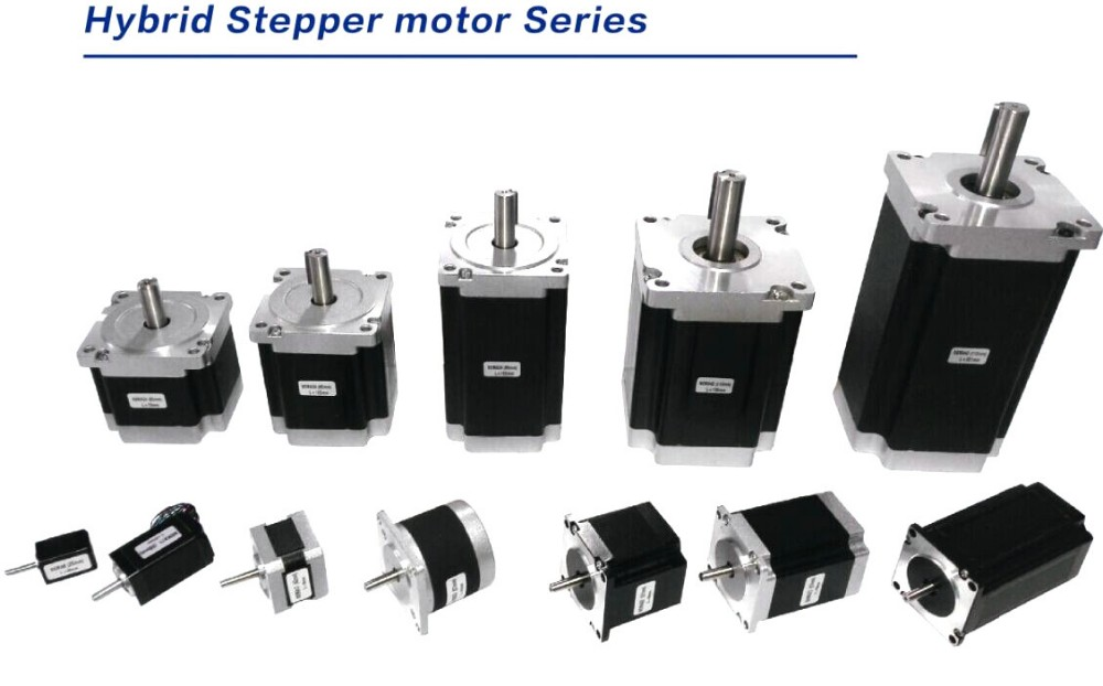 Stepper motor size from nema8 nema52 for printer and cnc for Stepper motor step size