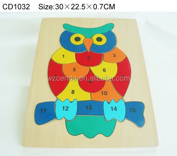 high quality educational jigsaw puzzles wooden rowl puzzle