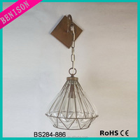 New deisgn Euroepan style antique vintage glass rustic wire cage glass industrial rustic lighting wall lamp