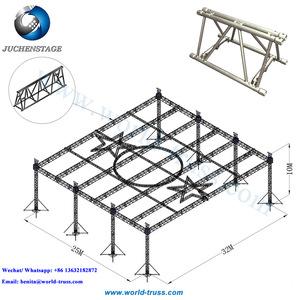 Outdoor Stage Truss Design 450mm Aluminum Lighting Circular Truss Five-pointed Star Roof Truss System