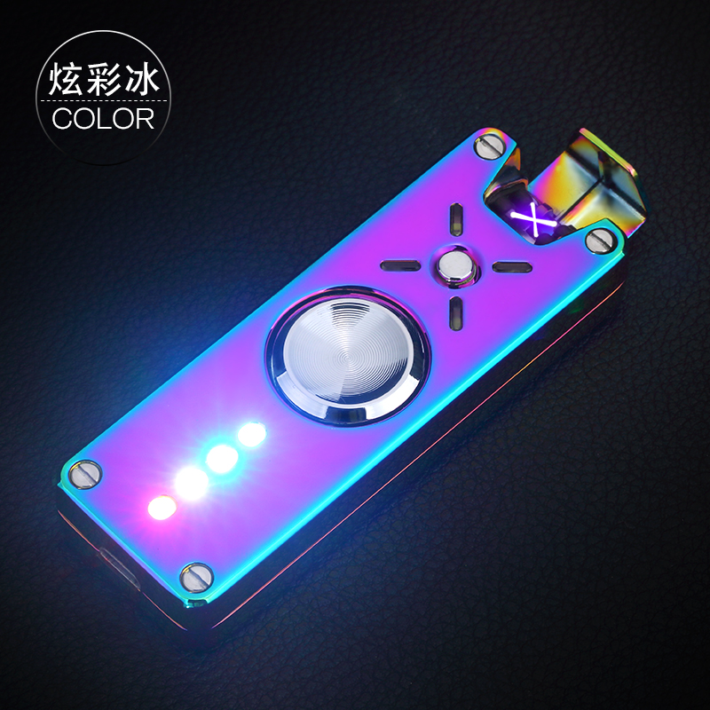 Hotest LED Cigarette Electric Gyro Lighter Plasma Rechargeable Windproof Kitchen Lighters