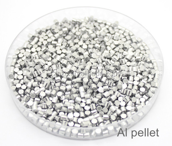 Manfacture high purity Al pellet as evaporator source