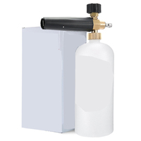 "Adjustable Foam Cannon 1 Liter Bottle Snow Foam Lance With 1/4"" Quick Connector Foam Blaster for Pressure Washer Gun"