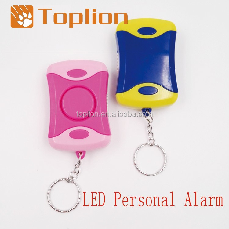 Outdoor Keychain 90db Personal Emergency Alarm with LED Light